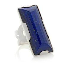 Jay King Rectangular Lapis Sterling Silver Ring
