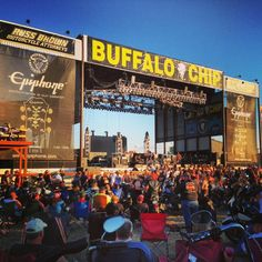 Ride a Harley (or ride on the back of a hunky guy's Harley) into Sturgis and see a concert here!