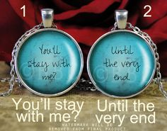 You'll Stay With Me? Until The Very End Harry Potter Inspired Necklace Set - Handmade