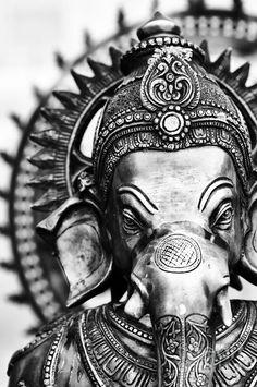 Ganesha Monochrome Art Print by Tim Gainey Ganesha Tattoo, Ganesha Art, Lord Ganesha, Sri Ganesh, Namaste, Dibujos Tattoo, Ganesha Pictures, Charcoal Sketch, Ganesha Painting