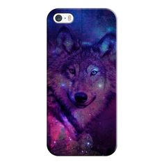 iPhone 6 Plus/6/5/5s/5c Case - Blue Purple Pink Wolf Space Galaxy... ($35) ❤ liked on Polyvore featuring accessories, tech accessories, iphone case, iphone cover case, pink iphone case, apple iphone cases and slim iphone case