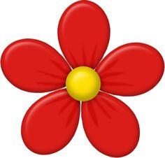 Blossom Flower, Flower Art, Flower Patterns, Flower Designs, Bd Art, Clip Art Library, Grass Flower, Cartoon Flowers, Flower Clipart
