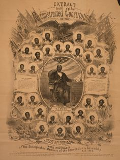 Portraits of black members of LA Constitutional Convention of 1868, with Lieut. Gov. Oscar Dunn at center