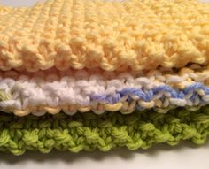 Hand Knit Baby Wash Cloth by SpringLakeCottage on Etsy, $5.00