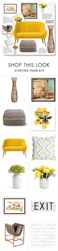 """Save the bees"" by gul07 ❤ liked on Polyvore featuring interior, interiors, interior design, home, home decor, interior decorating, Pier 1 Imports, AERIN, Sherry Kline and Tempaper"