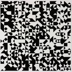 The grid in algorithmic and interactive art: random grids and pixel paint tools. Pair Et Impair, Triangles, François Morellet, Curtain Wall Detail, Textiles Sketchbook, Lights Artist, Abstract Geometric Art, Interactive Art, Geometry Art