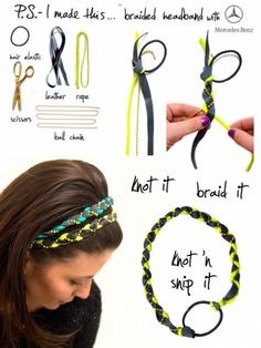 braided headband..this is really cool!