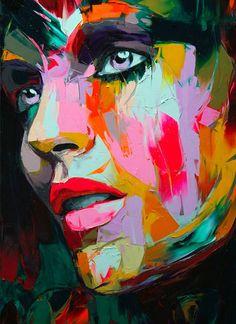 Love the vibrant colors! - http://blogof.francescomugnai.com/2011/06/unique-and-colorful-portraits-by-francoise-nielly/