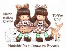 Mudslide Pie & Chocolate Brownie-- amazing website with awesome custom characters