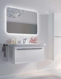 Wall mirror / contemporary / illuminated / for bathrooms MYDAY by Cornelia Thies Keramag