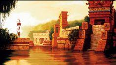 Road To El Dorado - Background Art...