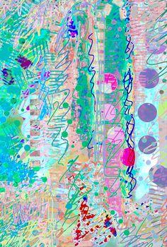 'Digital Fun' Rosie Britton digital painting Textiles, Painting & Drawing, Abstract, Digital, Drawings, Artist, Artwork, Summer, Fun