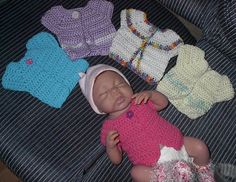 Free Crochet Pattern: Bev's Newborn Shirt/Vest. This is a super easy beginners pattern. I have made several and they always turn out so cute.