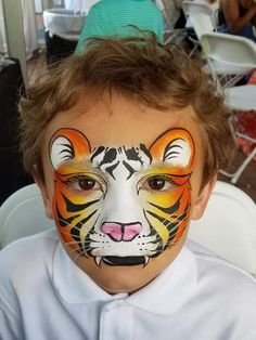 Face Painting Designs, Paint Designs, Tiger Face Paints, Carnival, Projects, Mardi Gras, Blue Prints, Carnival Holiday, Tile Projects