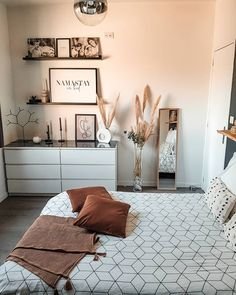Master Bedroom Makeover, Master Bedroom Design, Home Living Room, Apartment Living, Bedroom Inspiration Cozy, Minimalist Room, Bedroom Styles, New Room, Home Interior Design