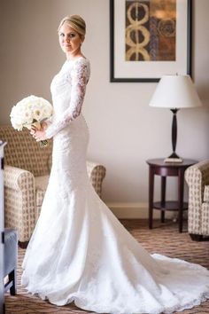 Sheath Lace Wedding Dresses 2016 Vintage Long Sleeves Wedding Lace Dresses For Muslim Boat Neck Hollow Modest Wedding Bridal Gown Custom Made Wedding Gowns Under 1000 From Adminonline, $183.24| Dhgate.Com