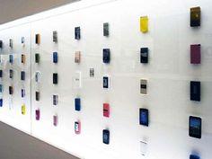 evolution of cell phones Exhibit #Cellphones #Art #exhibit http://www.trendhunter.com