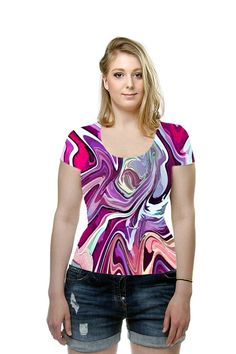 By Lillian Hibiscus. All Over Printed Art Fashion T-Shirt by OArtTee