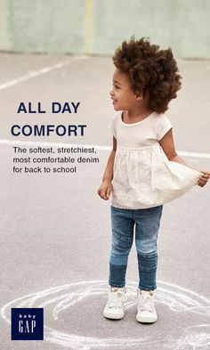 discover this season's softest, most comfortable denim with the Superdenim collection. extra stretch fibers provide extra flexibility so your child can have all day comfort while looking extra- stylish. Little Girl Outfits, Cute Outfits For Kids, Toddler Outfits, Baby Girl Items, My Baby Girl, Trendy Kids, Stylish Kids, Chloe Fashion, Girl Fashion