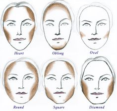 contouring for face shapes                                                                                                                                                                                 More