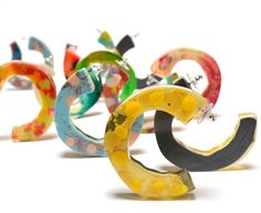 Flock Curiosity Assembly – Chunky Glam Hoop earrings • Available at thebigdesignmarket.com