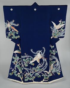Outer Robe (Uchikake) for a WeddingPeriod: Edo period (1615–1868) Date: 19th century Culture: Japan Medium: Resist-dyed and painted plain-weave silk with embroidered details