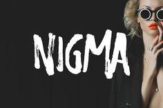 Nigma - Brush Font by Tugcu Design Co. on @creativemarket