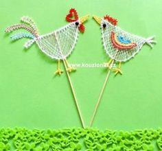 paličkování podvinky zdarma - Hledat Googlem Bobbin Lace Patterns, Lacemaking, Needle Lace, Stone Art, Crochet Earrings, Knitting, Crafts, Roosters, Inspiration