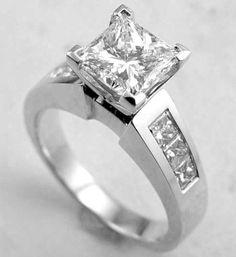 Cheap Engagement Rings White Gold Diamonds Princess 16
