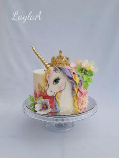 Unicorn - cake by Layla A Toddler Birthday Cakes, Birthday Cake Girls, Unicorne Cake, Cupcake Cakes, Unicorn Cake Design, Little Pony Cake, Horse Cake, Barbie Cake, Cake Decorating Techniques