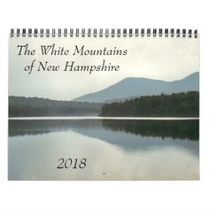 White Mountains New Hampshire Scenic 2018 Nature Calendar - white gifts elegant diy gift ideas