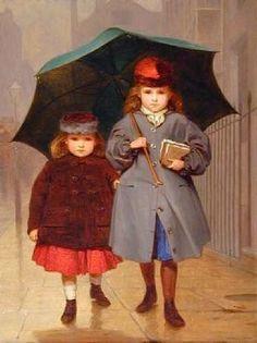 Going To School-James Hayllar (1829 – 1920, English)