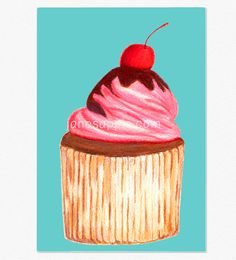 Cupcake Greeting Card Digital Download