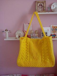 Ravelry: Oversize Fisherman Tote Bag pattern by Christy Tchaparian