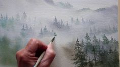 Detailed demonstration of painting trees in the mist. This is a mountain…