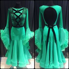 Can you feel spring breeze looking at this lovely dress? I can! Amazing ballroom dress created for Ekaterina Prozorova by DLK United Design! #dlk_united_design #standarddress #dressdesign #ballroomdress #ballroomdressforsale