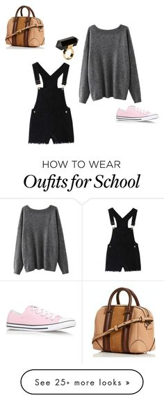 """Easy school outfit"" by stilababe44 on Polyvore featuring Converse and Monki"