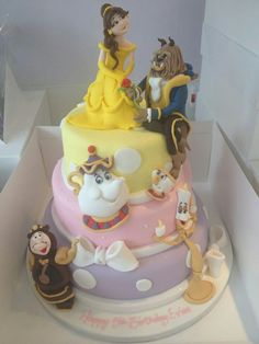 The cake of Beauty and the beast Party ideas Pinterest Beast