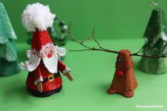 Mammabook: Babbo Natale e Renna con il cartone delle uova – DIY egg carton Santa and reindeer