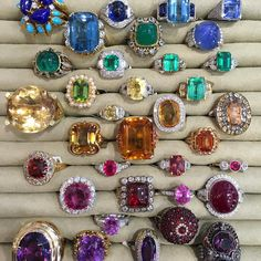 Whoever took this photo knows the way to our hearts! #RainbowJewels #TheJewelleryEditorLoves