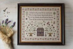 Plum Street Samplers On Prudence - Cross Stitch Pattern. What's in thy mind let no one know, nor to they friends thy secrets show. For if thy friends should pro