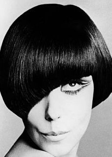 Peggy Moffit in a Mary Quant Mod-Bob wig by Vidal Sassoon