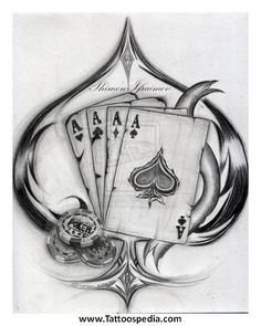 4 Aces Tattoo Designs 2 Tattoospedia cool tattoo design ideas