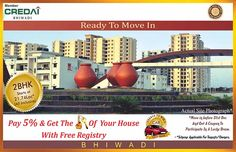 Buy 2BHK & 3BHK Ready to Move Flats On Alwar Bypass Road, Bhiwadi, Rajasthan. Pay only 5% and get the key of your Ready to Move Home with free Registr