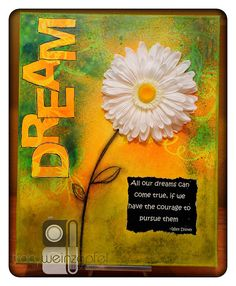 DREAM  By Tracy Weinzapfel  Mixed Media Canvas 16 X by twstudios, $75.00
