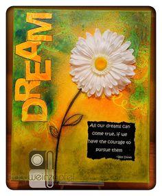 DREAM  By Tracy Weinzapfel  Mixed Media Canvas 16 X by twstudios, $75.00