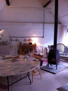 Warm logburner, tea & Annie Sloan colour for inspiration on a cold wet April day...
