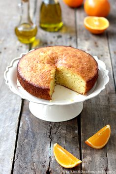 Cake with oranges and lots of oliveoil.
