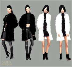 [fix!]category hat version_female_ACC_long fur jacket_롱 퍼 자켓_여자 악세사리 자켓