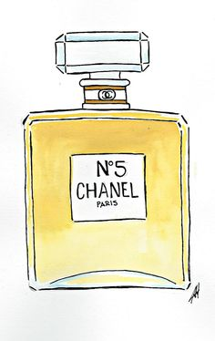 Items similar to Chanel No 5 Watercolor on Etsy Chanel No 5, Chanel Paris, Best Perfume For Men, Number 5, Fashion Art, Perfume Bottles, Unique Jewelry, Etsy, War Paint